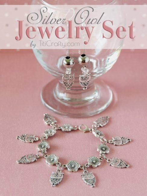 DIY-Silver-Owl-Jewelry-Set-Tutorial