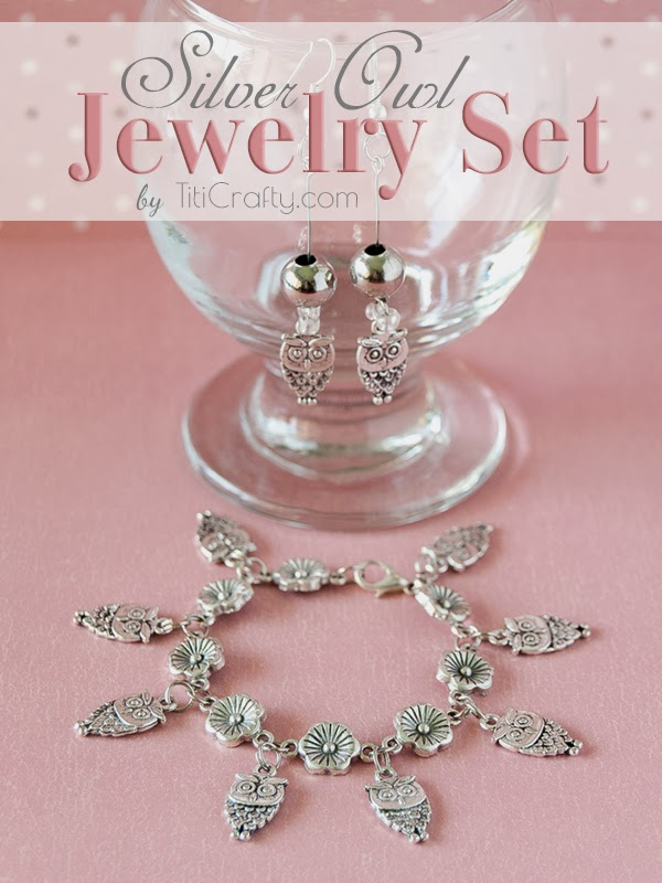 Silver Owls Jewelry Set DIY Tutorial