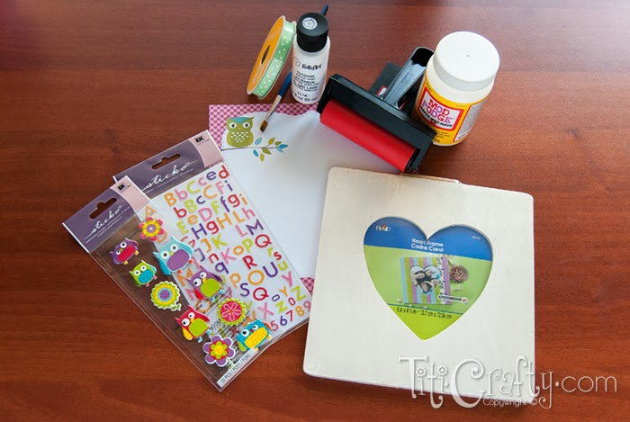 Father's Day Mod Podge Photo Frame Supplies