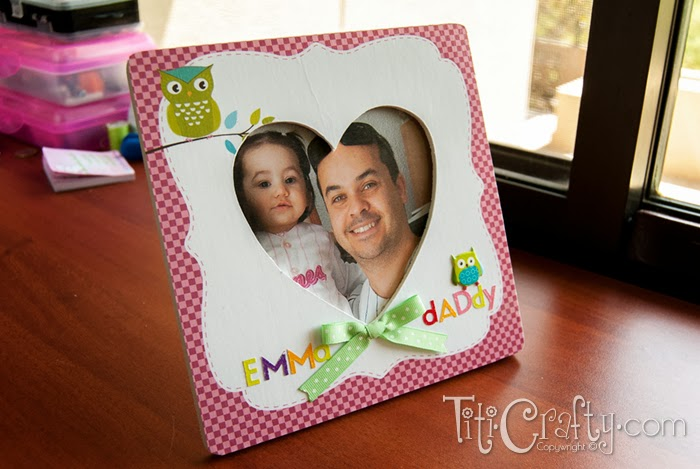 DIY Father's Day Mod Podge Photo Frame