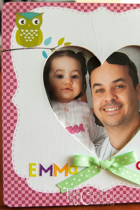 Father's Day Mod Podge Photo Frame Tutorial