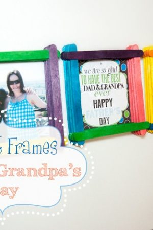 Magnetic Photo Frames for Dad/Grandpa's Day
