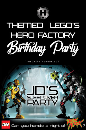 Themed  Lego's Hero Factory Birthday Party