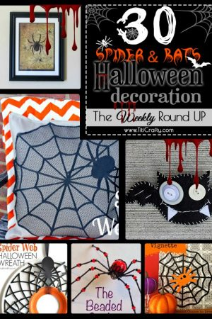 30 Spider and Bats Halloween Decoration