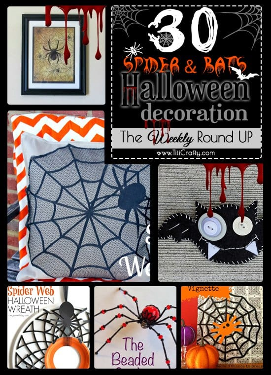 30 Spider and Bats Halloween Decoration