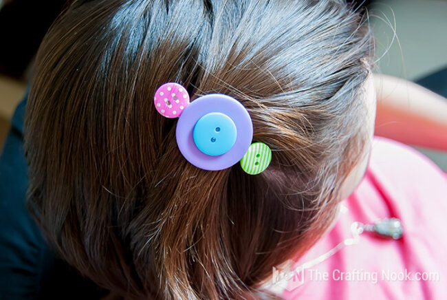 Button-Hair-Clips-for Mom