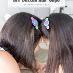 DIY Button Hair Clips