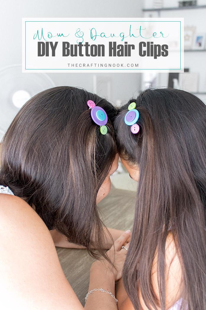 DIY Button Hair Clips