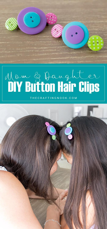 DIY Button Hair Clips PIN