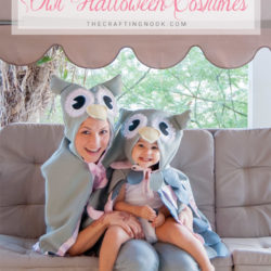 DIY MATCHING OWL HALLOWEEN COSTUME (MOM & DAUGHTER MATCHING COSTUMES)
