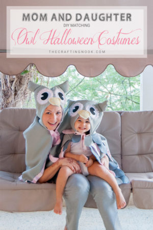 DIY MATCHING OWL HALLOWEEN COSTUME (MOM & DAUGHTER MATCHING COSTUMES)