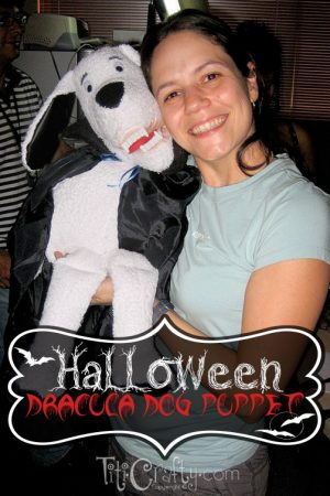 Halloween Dracula Puppet Dog