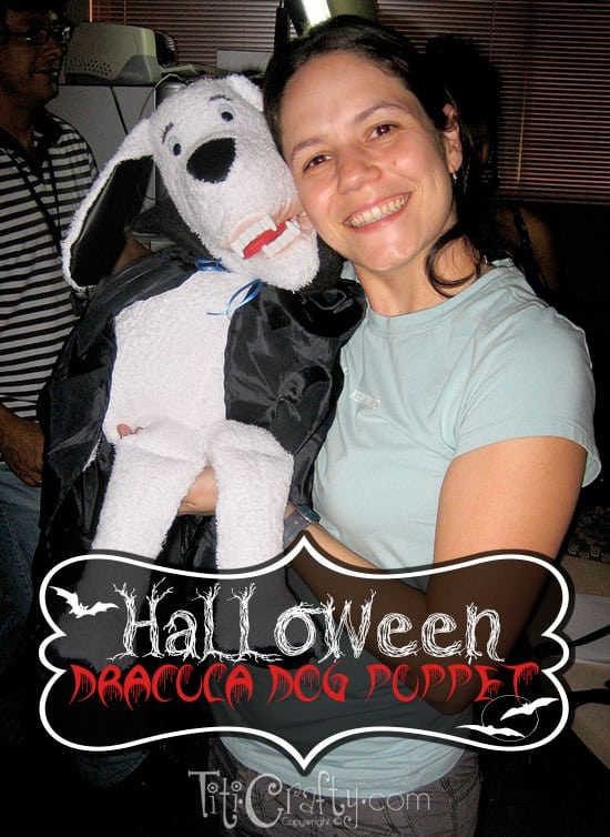 Halloween Dracula Puppet Dog #halloweenshow #halloweenparty #halloweenproject