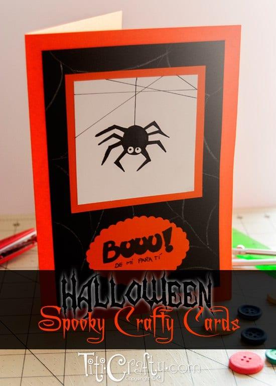 Halloween Spooky Crafty Cards #halloweencards #halloweengift #halloweenideas