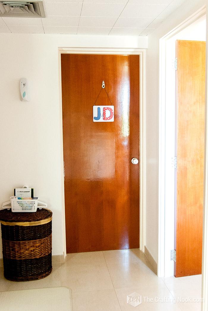 Personalized Mod Podge Door Plaque for kids