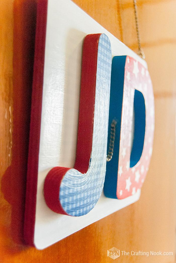 Cute Mod Podge Door Plaque for kids