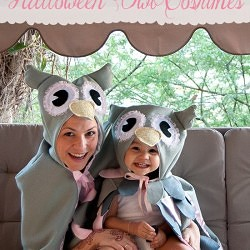 Mommy & Me DIY Halloween Owl Costumes