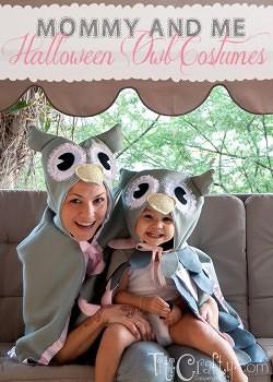 Mommy & Me DIY Halloween Owl Costumes