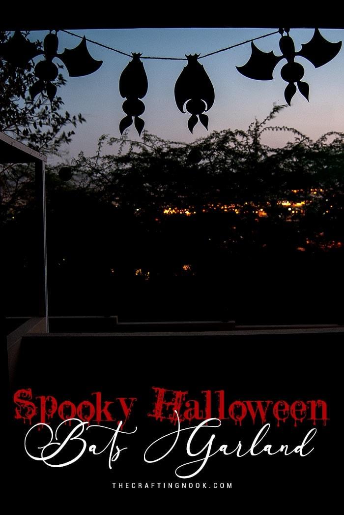 Spooky Halloween Bats Garland {+ Cut Files}