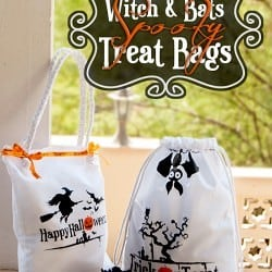 Last Minute Witch and Bats Spooky Halloween Treat Bags #halloweentreats #halloweentreatbag #halloweennight