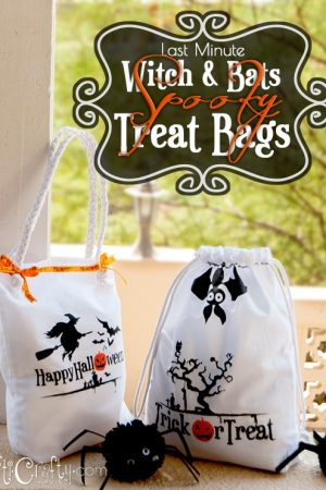 Last Minute Witch and Bats Spooky Halloween Treat Bags