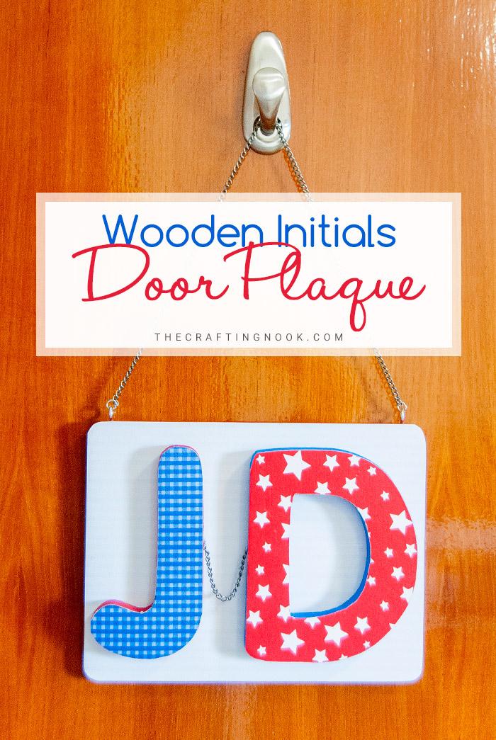 DIY Mod Podge Door Plaque for kids