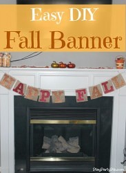 Fall DIY Burlap Banner