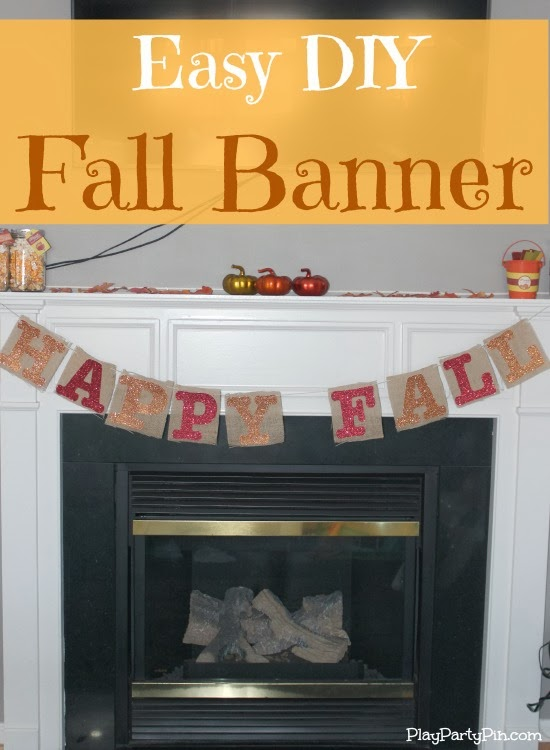 Easy DIY Burlap Banner for Fall