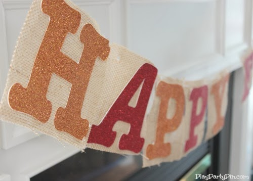 Easy DIY fall burlap banner
