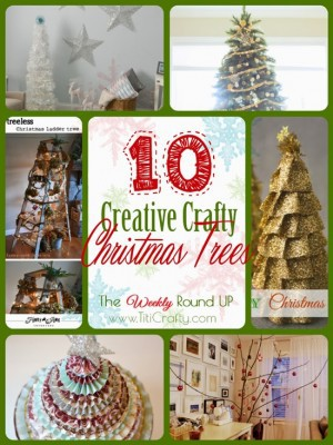 http://titicrafty.com/2013/12/10-creative-crafty-christmas-trees-the-weekly-round-up/