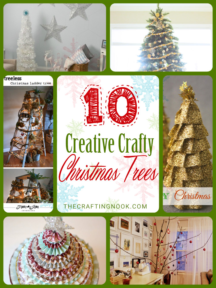 10+ Creative Crafty Christmas Tree Ideas (DIY Projects)