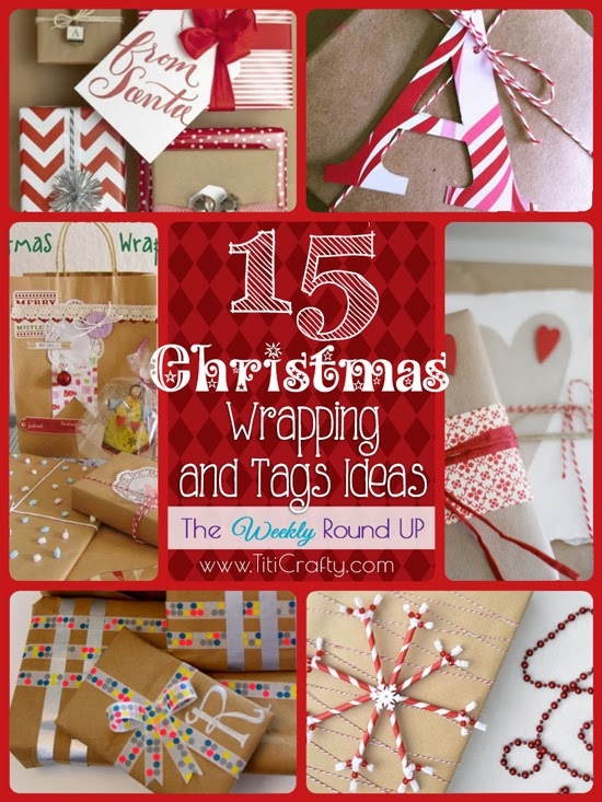 15 Christmas Wrapping and Tags Ideas. The weekly Round Up # Christmas #giftwrapping #gifttags