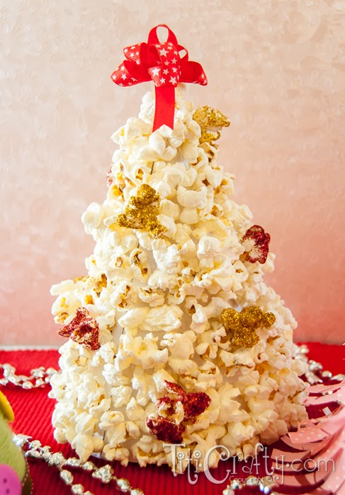 3 in 1 Tutorial Popcorn, Yarn and Paper Crafty Christmas Trees ...