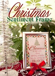 Christmas Sentiment Frame + Printable