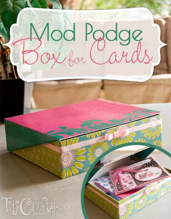 Mod Podge Box for my Cards #modpodge #modpodgeidea #modpodgeproject