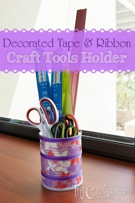 http://titicrafty.com/2013/11/decorated-tape-ribbon-craft-tools-holder/