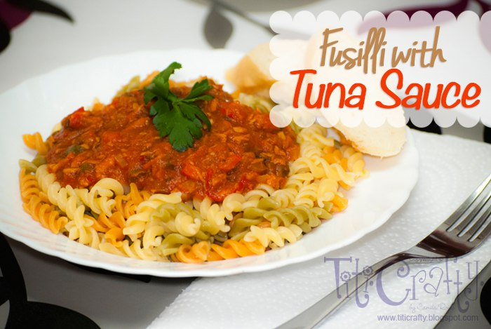 Fusilli with Tuna Sauce!