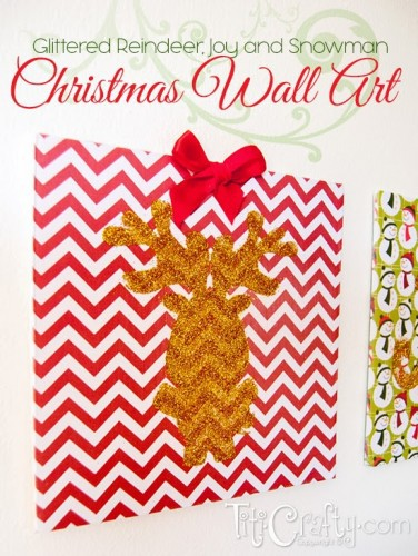 Glittered-Reindeer-Snowman-and-Joy-Christmas-Wall-Art-DIY-Tutorial
