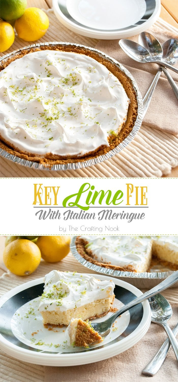 Key Lime Pie with Italian Meringue #keylimerecipes #keylimepie #pierecipes