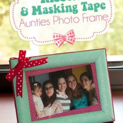 How to make Masking Tape Photo Frame