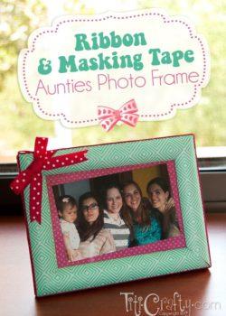How to make Masking Tape Photo Frame