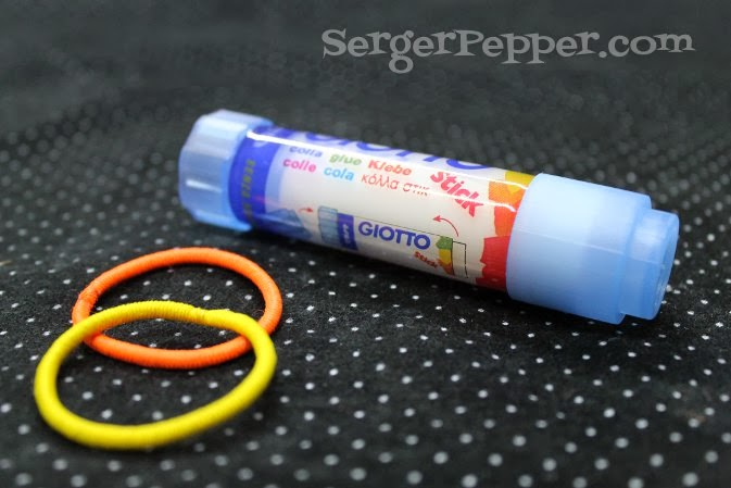 SergerPepper.com Guest Post - Sew Basic Series - Sewing Tools and Notions - TitiCrafty.com - Glue Stick and Ponytail Holders