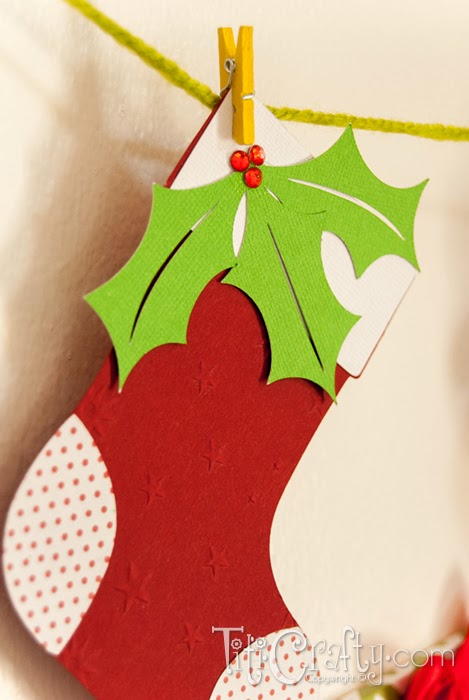 Diy socks and mittens christmas garland cut files the