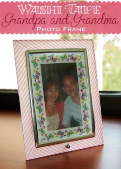 Grandma and Grandpa DIY Washi Tape Photo Frame