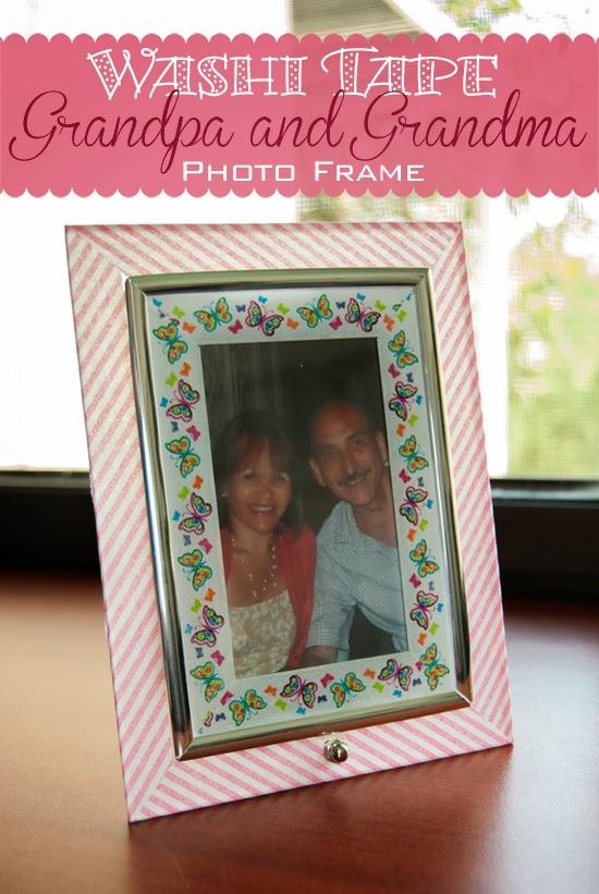 Grandma and Grandpa DIY Washi Tape Photo Frame