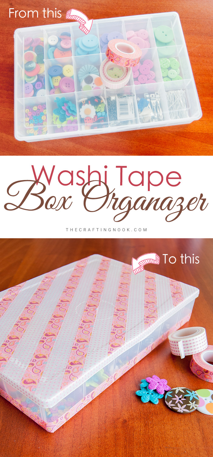 Washi Tape Box Organizer How to