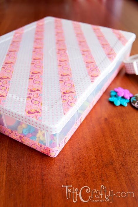 Washi Tape Box Organizer Tutorial