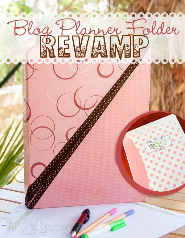 Blog Planner Folder Revamp DIY/Tutorial