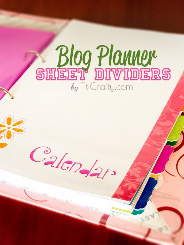Blog Planner Sheet Dividers + Free Cut Files