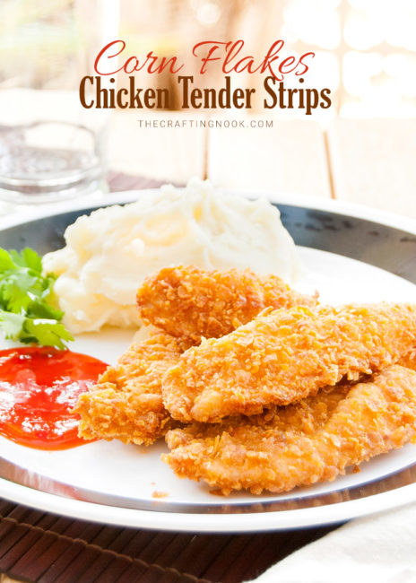 Delicious Corn Flakes Chicken Tender Strips